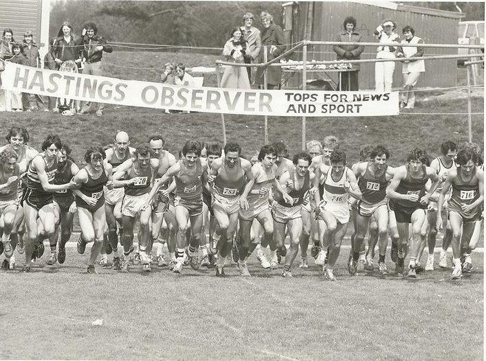 Hastings Observer Sports Day 1979 Derek Stevens and Steve Ovett