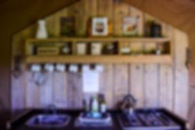 Swallows Oast Glamping Kitchen