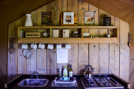 Swallows Oast Glamping Kitchen