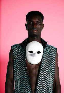 Jumping Man Mask & Blacklodge Dress