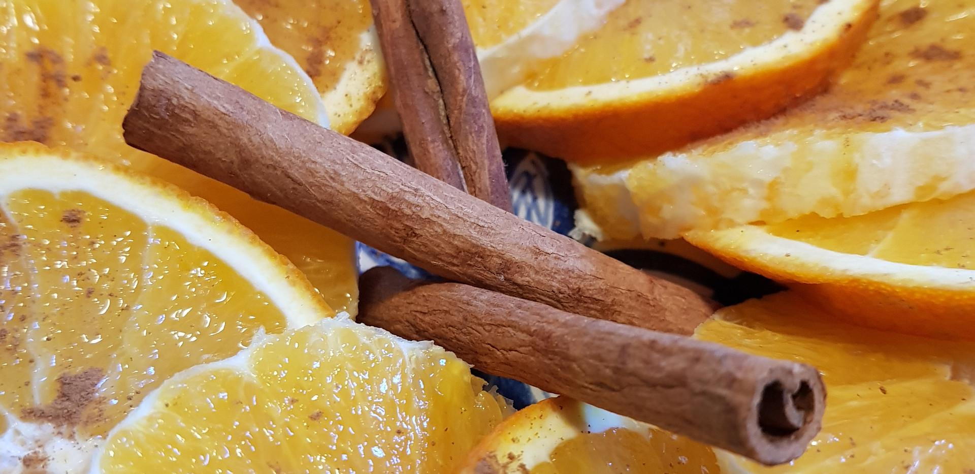 carpaccio oranges canelle
