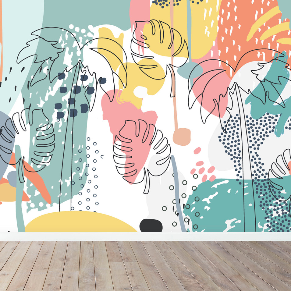 TROPICAL SPLASH MURAL