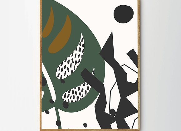 ABSTRACT LEAF PRINT - 1