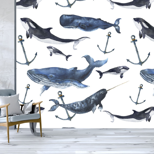 WATERCOLOUR WHALES