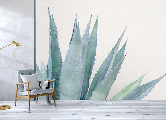 Cactus Leaves Mural
