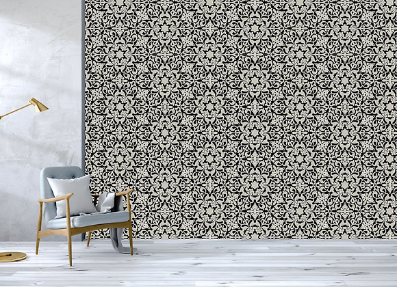 Monochrome Floral Tiles