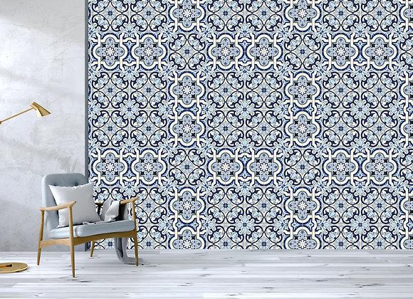 Blue Floral Tiles
