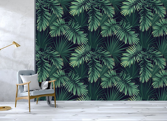 Dark Green Palm Leaves