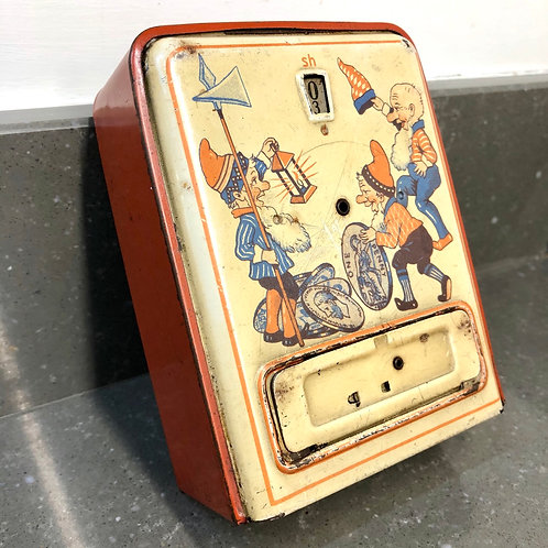 EARLY 20th CENTURY TINPLATE COIN COUNTER