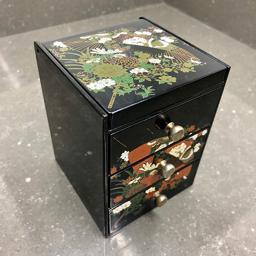 SMALL VINTAGE JAPANESE JEWELERY DRAWERS WITH MIRROR