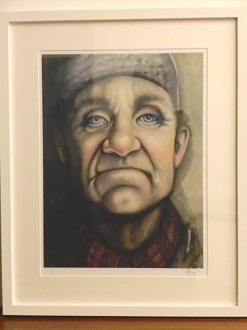LIMITED EDITION FRAMED PRINT. The Engineer