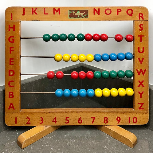 LARGE VINTAGE TAYLORS IF LEICESTER WOODEN ABACUS