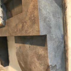 MDF MANTLE PAINTED TO LOOK LIKE OLD STONE