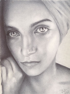 BALLPOINT PEN REALISTIC DRAWING OF YOUNG GIL IN TURBAN