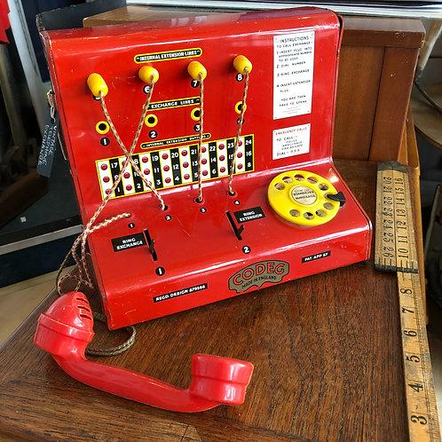 CODEG vintage red telephone exchange
