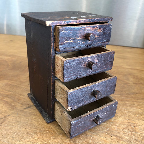 ANTIQUE MINIATURE WOODEN WATCHMAKERS DRAWERS