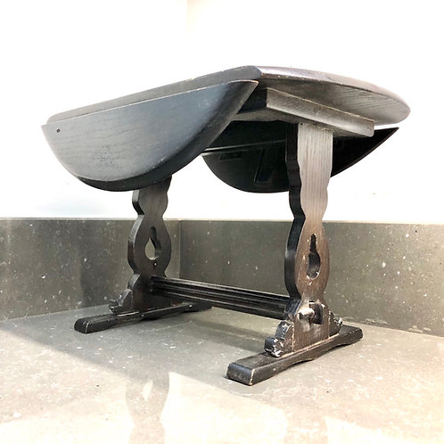 VINTAGE MINIATURE WOODEN GATEFOLD TABLE