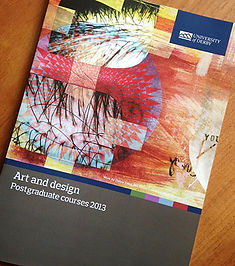 University of Derby UoD Art and Design prospectus 2013 cover design by Debra Yates