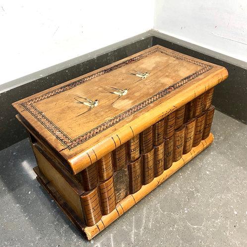 VINTAGE WOODEN JEWELLERY BOX . RESTORATION PROJECT