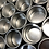 Thumbnail: SMALL ROUND METAL GIFT TIN WITH WINDOW LID