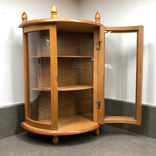 VINTAGE STYLE MINIATURE CURVED DISPLAY CABINET