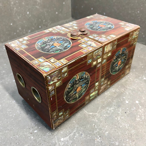VINTAGE CHINESE LACQUERED JEWELLERY CABINET