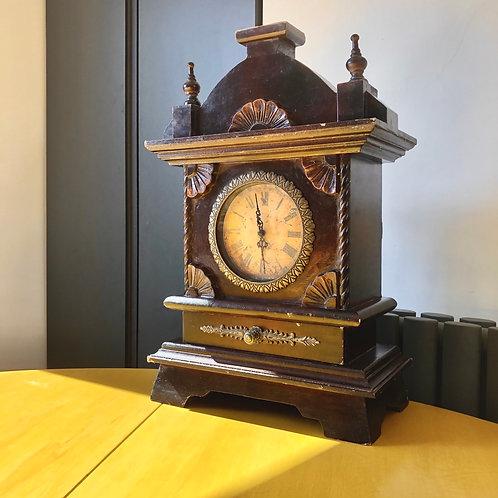 LARGE VINTAGE MANTLE CLOCK WITH DRAWER. Restoration project