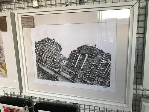 LTD ED. Framed art print. AMSTERDAM