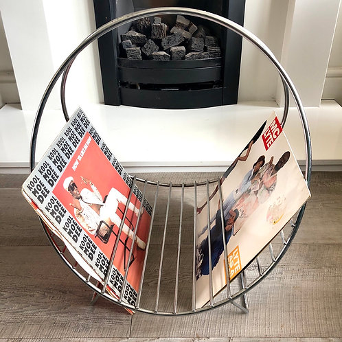 LARGE ATOMIC MAGAZINE RACK