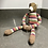 Thumbnail: VINTAGE KNITTED BEAR WITH SUPER LONG LEGS