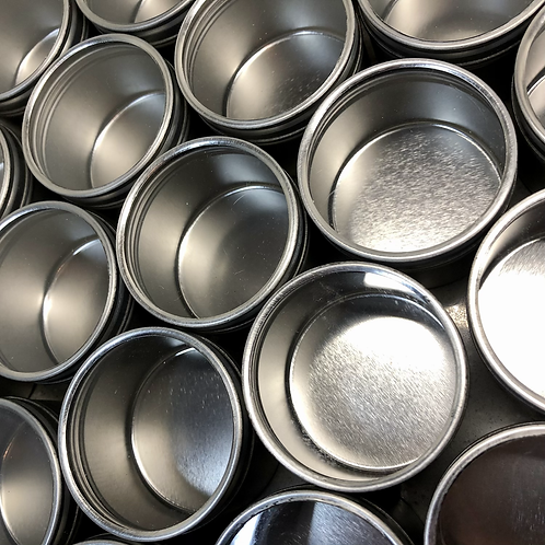 SET OF 10 SMALL METAL GIFT TINS WITH WINDOW LID