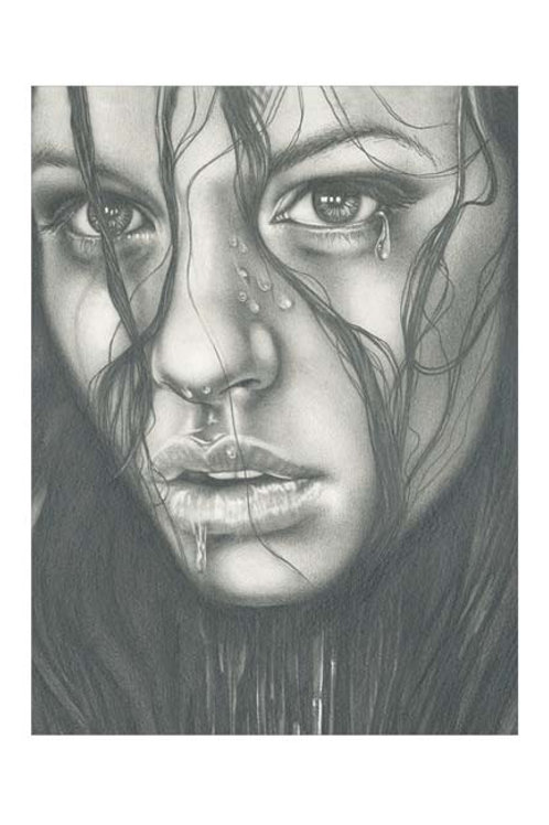 LIMITED EDITION ART PRINT 'WET FACE'