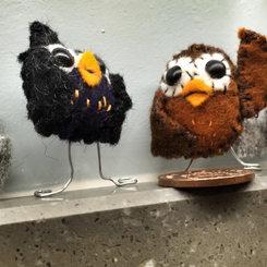 TINY HANDMADE FELT OWLS