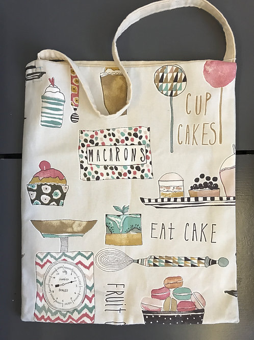HANDMADE CAKE CANVAS LINED SHOPPER