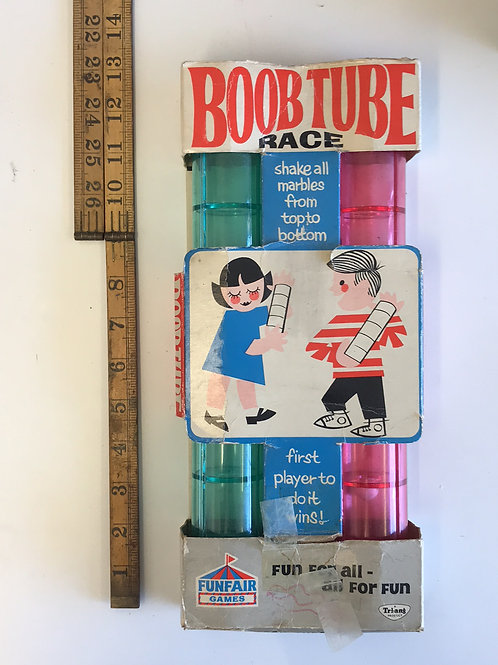 VINTAGE TRIANG 1960s BOOB TUBE MARBLE GAME IN BOX