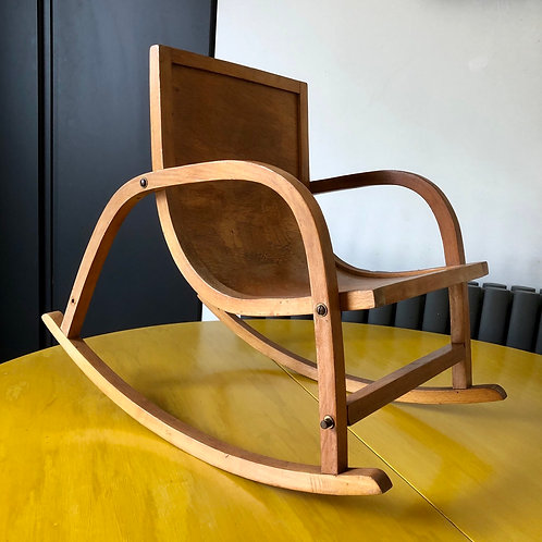MIDCENTURY BENTWOOD MINIATURE CHILD ROCKING CHAIR