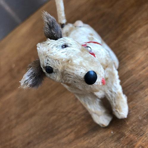 VINTAGE MINIATURE CLOCKWORK DOG