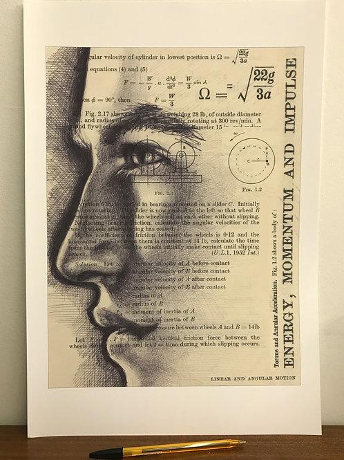 LTD. EDITION ART PRINT. Marc Marquez in biro