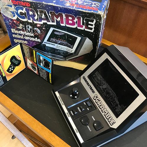 VINTAGE GRANDSTAND SCRAMBLE ARCADE GAME. Boxed