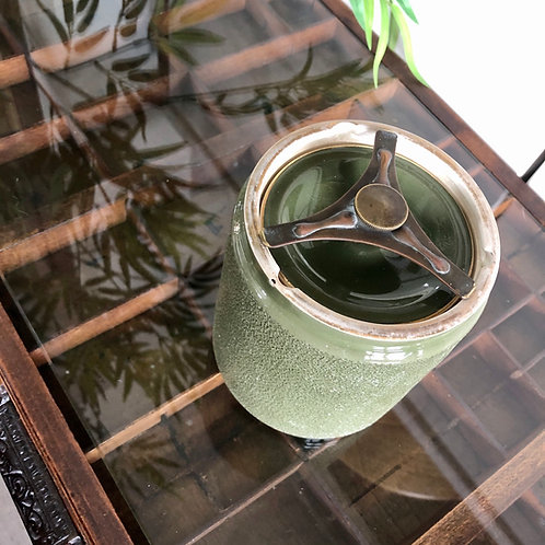 VINTAGE SAGE GREEN CARLTONWARE TOBACCO JAR