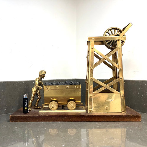 VINTAGE MINIATURE BRASS COLLIERY