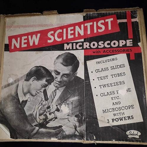 1960s SELCOL NEW SCIENTIST MINIATURE MICROSCOPE BOXED