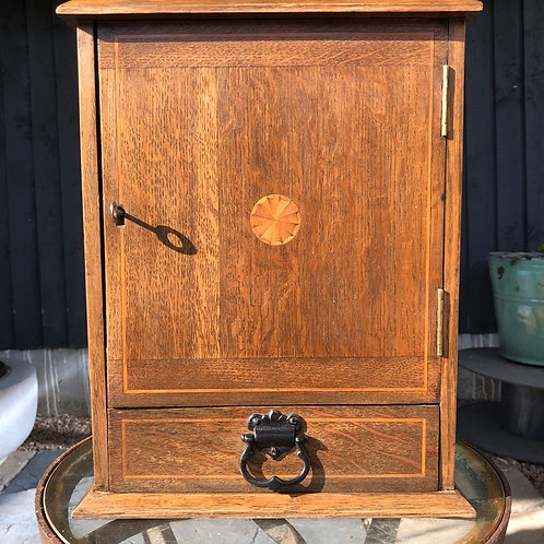 EDWARDIAN PIPE CABINET WITH INLAY