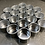 Thumbnail: SET OF 10 SMALL METAL GIFT TINS WITH WINDOW LID