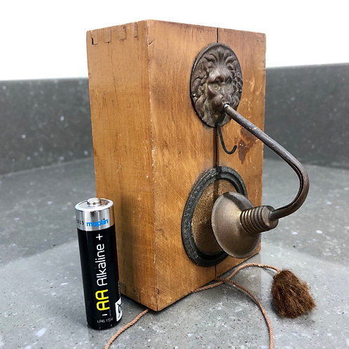 ANTIQUE MINIATURE LIGHT BOX WITH PULL CORD