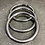 Thumbnail: LARGE VINTAGE STAINLESS STEEL HOOP BANGLE. 3 in stock