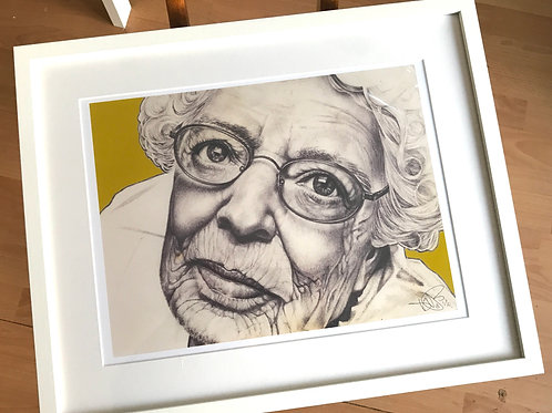 LTD ED. Framed art print. BIC biro