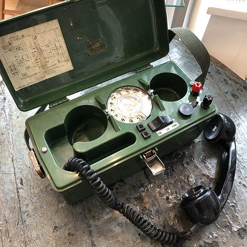VINTAGE FIELD TELEPHONE EXCHANGE PO704B