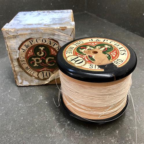 GIANT J&P COATS BOBBIN. 1mile of thread, original box
