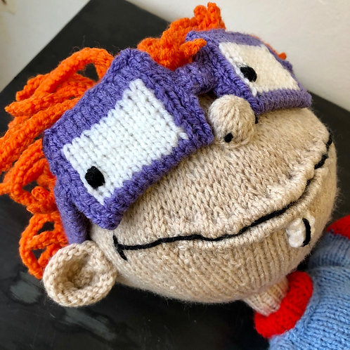 VINTAGE HAND KNITTED RUGRATS DOLL. Chuckie Fisher